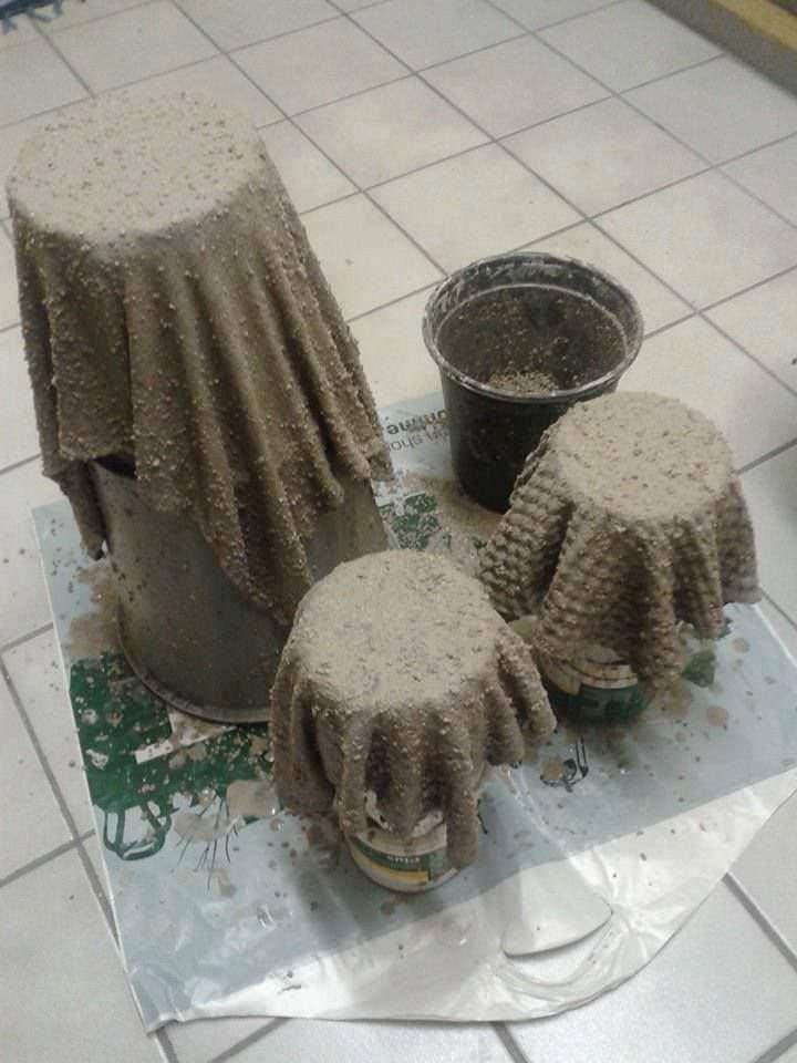 Изготовление горшков из цемента