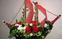 Корабль из цветов