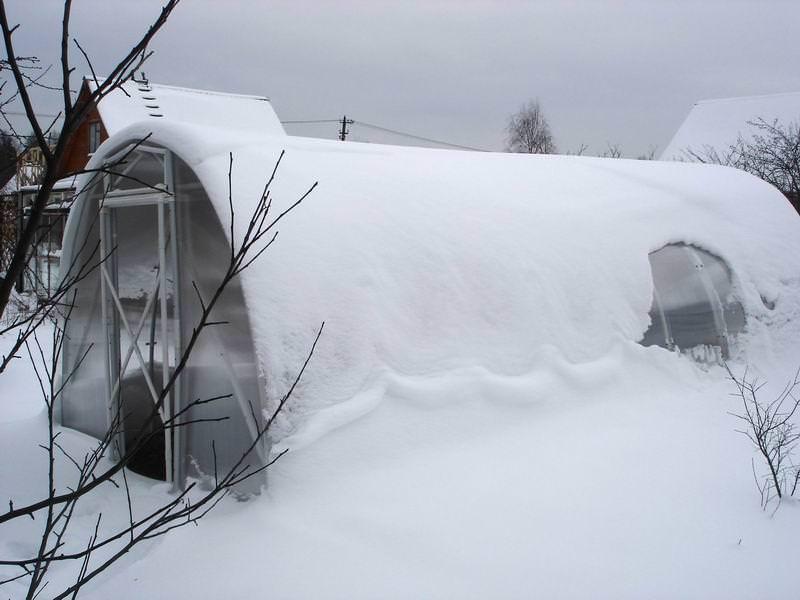 Подпорки для парника на зиму